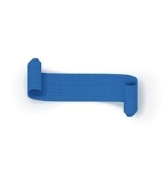 Realistic scroll blue greeting ribbon vector