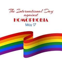 Card for the international day against homophobia vector