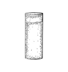 Hand drawn bottle or tube vector