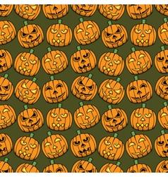 Halloween pumpkins seamless pattern vector