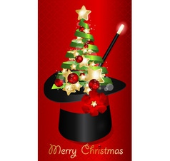 Abstract xmas Magic Hat vector image