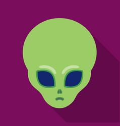 Alien icon in flate style isolated on white vector