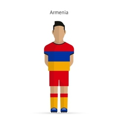 Armenia football player soccer uniform vector