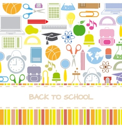Background school icons vector