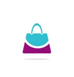 bag beauty smile fashion logo vector image vector image