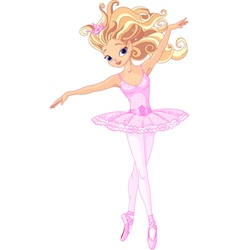 Beautiful ballerina vector image