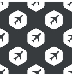 Black hexagon plane pattern vector image