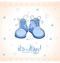 Boy shoes vector
