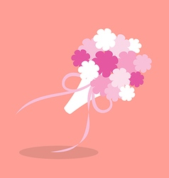 Bridal bouquetin flat style vector