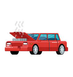 broken car icon in flat design vector image