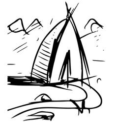 Cartoon wigwam vector