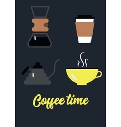 Coffee brewing vector