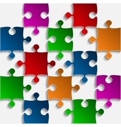 Color puzzles pieces - jigsaw - 25 vector