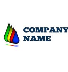 Colorful drops creative idea logo design template vector