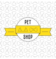 Concept for pet shop vector image