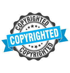 Copyrighted stamp sign seal vector