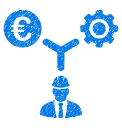 Euro development relations grainy texture icon vector