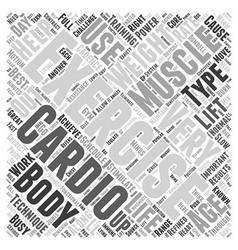 Exercise as power source word cloud concept vector