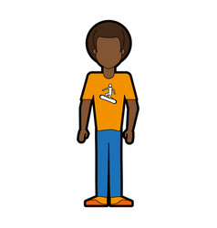 Faceless man wearing t shirt of a man vector
