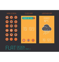 Flat design template for mobile devices - vector image