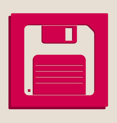 Floppy disk sign grayscale version of vector