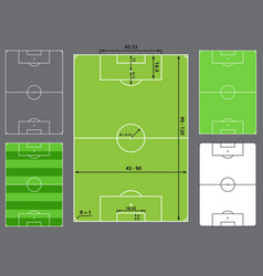 Football field or soccer field vector