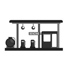 Gas petroleum petrol refill station gasoline and vector