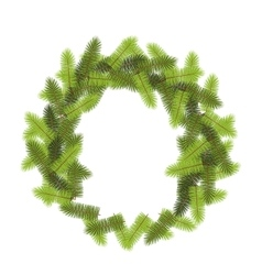 Green pine wreath vector