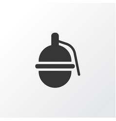 grenade icon symbol premium quality isolated vector image