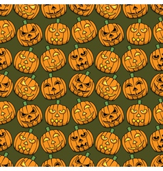 Halloween pumpkins seamless pattern vector image vector image