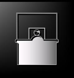 Information desk sign gray 3d printed vector