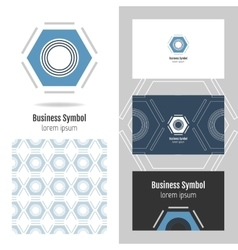 Logo for your company hexagon business card and vector
