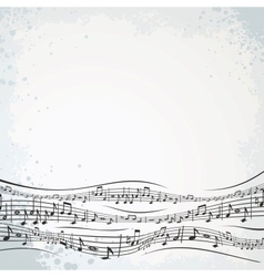 Musical Background with Abstract Composition vector image vector image