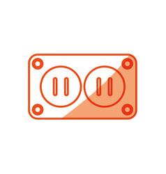 Plug electric socket vector