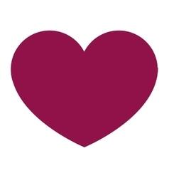 purple heart icon vector image vector image