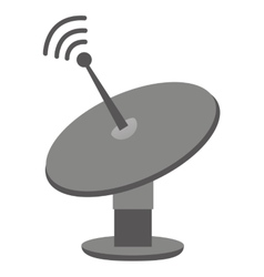 satellite communication isolated icon vector image
