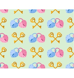 seamless pattern from padlock couple key couple vector image vector image