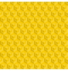 Seamless pattern of yellow glossy honeycombs vector image vector image