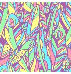 Seamless pattern with big feathers vector image