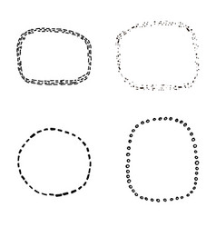 set of four hand sketched decorative frame vector image vector image