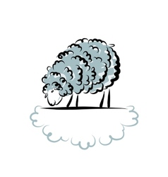 Sheep sketch for your design vector