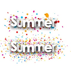 Summer paper banners vector image vector image
