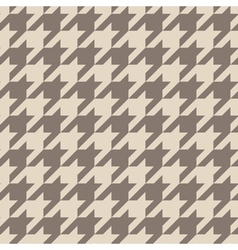 Tile brown houndstooth pattern vector