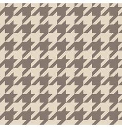 Tile brown houndstooth pattern vector image vector image