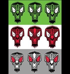Tribal scary halloween skull totem mascot vector