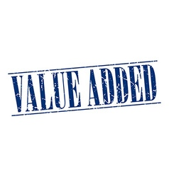 value added blue grunge vintage stamp isolated on vector image vector image