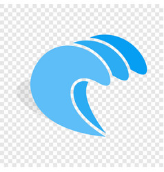 water wave isometric icon vector image