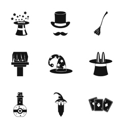 Witchcraft icons set simple style vector image vector image