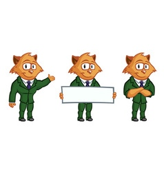 Yellow cat mascot vector image