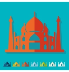 Flat design arabic palace vector image